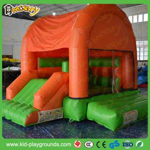 China bounce castle kids size jumper with slide 0.55mm pvc tarp slide bouncer on sale