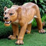 Theme park decoration fiberglass life size lion statue
