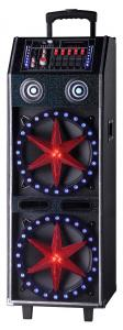 China Battery Powered Disco Light Bluetooth Speaker System / Portable Trolley Speaker on sale