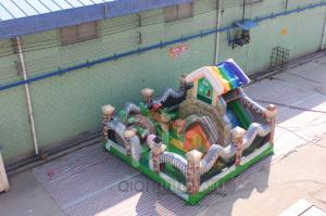 China Garden House Inflatable Playland Fun City on sale