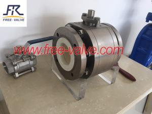 China Flange Type Ceramic Lined Ball Valves for coal fired fly ash system,ceramic ball valve on sale