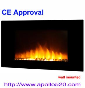China Stone Flame Effect Electric Fireplace on sale