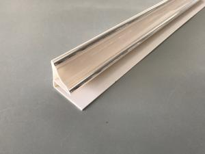 China 9mm / 10mm Big Size White PVC Extrusion Profiles With Two Silver Lines on sale
