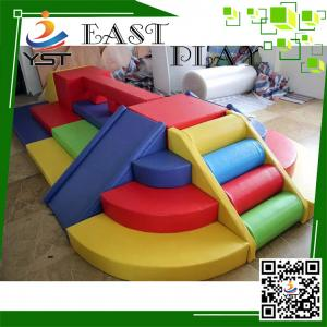 China Multi Color Kids Soft Foam Blocks PVC Software Material Easy Assembly on sale