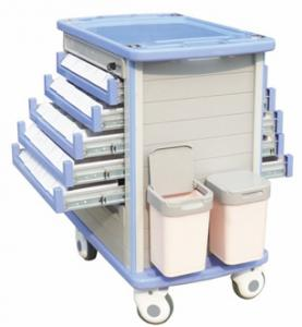 China CE ISO approved high class ABS Hospital Trolley For Treatment on sale