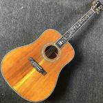 AAA Deluxe Solid KOA Top 41 Abalone Inlays Ebony Fingerboard Acoustic Guitar