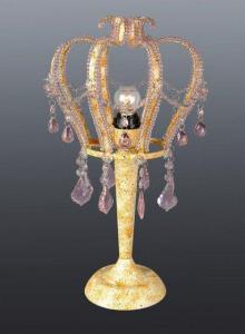 China Metal and Crystal Table Lamp on sale