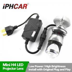China High Quality 1.8 inch Mini H4 LED Headlight Projector Head Lamp 5500K BI LED Head Light on sale
