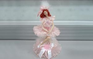 China Musical Porcelain Doll Music Box For Women , 10 Vitoria Girl on sale