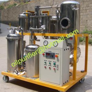 China A unidade de filtro do óleo, óleo comestível recicla a máquina, o corpo de aço inoxidável e os elementos de filtro, bens, para o uso comestível on sale