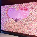 40*60cm Silk Fabric Coloful Artificial Rose Flower Wall Vertical Garden  Handmade Real Touch