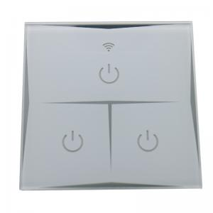 China EU Standard Intelligent Wifi Activated Light Switch , 3 Gang Wireless Switches For Home Lighting on sale