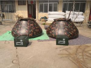 China Military Emergency Storage Tarpaulin Water Tank  Camo Color 5000L Volume on sale