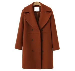 China Custom long woolen overcoat/coat/winderbreaker women suit on sale