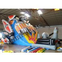 China Attractive Robot Inflatable Dry Slide / Inflatable Fun Jumping Playground on sale