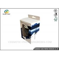 Black / Blue Electronics Packaging Boxes Glossy Finishing With PVC Window