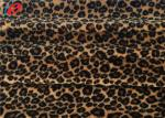 Leopard Printed 100% Polyester Velvet Fabric 1MM Velboa Fabric For Upholstery