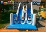 Penguin Double Sided Outdoor Inflatable Water Slides Durable And Fireproof