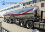 China Customized 40000L Aluminum 5454 Tank Semi Trailer Three Axle Trailers wholesale