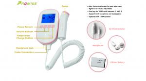 """China Pink & Gold Sonoline Ultrasonic Fetal Doppler for FHR fetal heart rate with Large 2.4"""" backlight LCD display on sale"""