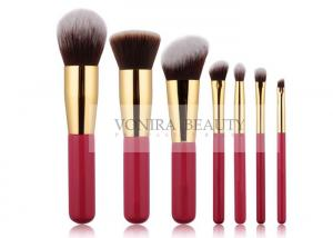China Elegant Limited Edition Vegan Taklon Synthetic Makeup Brushes With Gold Ferrule on sale