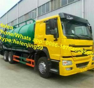 China LHD / RHD 6x4 10 wheels Vacuum Truck / 20 CBM Sewage Pumping Trucks on sale