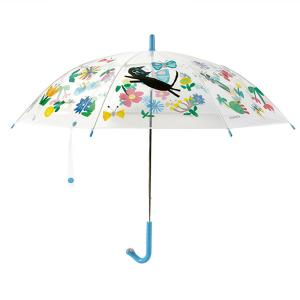 China Funny Mini Clear Compact Umbrella / Straight Kid Little Girl Clear Collapsible Umbrella on sale
