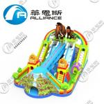 Lead Free Inflatable Bounce Castle With Slide Large Size For Commerce Square