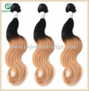 China Peruvian 5A virgin remy hair weave ,ombre natural color/27# Body wave 10''-26''length on sale