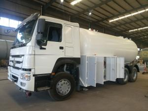 China Bobtail LPG Gas Tanker Truck Howo 6X4 20cbm 10 Ton For Lpg Transportation on sale