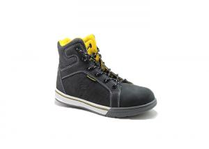 China Ultra Light Fashionable Rubber Sole Leather Safety Shoes With Steel Toe Cap For Mens on sale