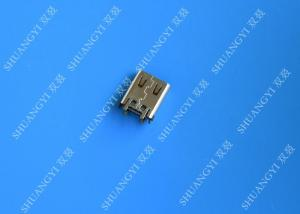 China Electrical SMT DIP 24 Pin USB Connector USB 3.1 Type C Female 10000 Cycles on sale