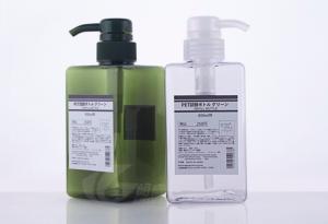 China Shower PET Plastic Bottles 650ml Square For Cream Hand Washing Custom Color OEM SGS on sale
