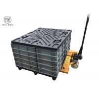 Four Way Returnable Recycled Plastic Pallets With Top Caps 1200 * 1000 * 150 Mm