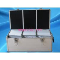 China Waterproof Silver Aluminum CD DVD Storage Case With Lock , 500 CD Cases on sale