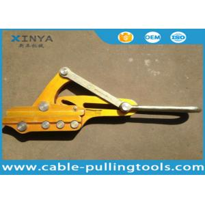 China Self Gripping Clamps Fiber Optic Cable Tools Cable Clipper Come Along Clamp Grips 16KN on sale