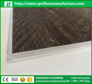 Quality Uniclic Click System Spc Floor Waterproof Plastic Vinyl Flooring For Sale