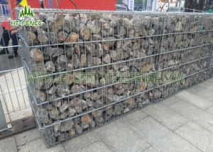 China Anti - Corrosive Welded Gabion Box / Gabion Stone Basket For Highway Checkpoints on sale