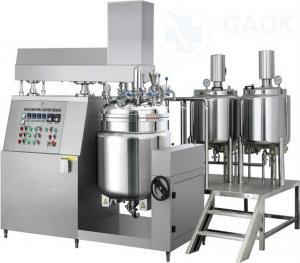China Super 50L Vacuum Homogenizer Mixer / Face Cream Vacuum Emulsifying Machine / Cosmetic Mixing Tank Equipment Homogen on sale