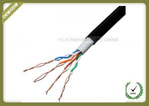 China 305 Meters Network Fiber Cable , Unshielded Twisted Pair Cable 0.5mm Diameter on sale