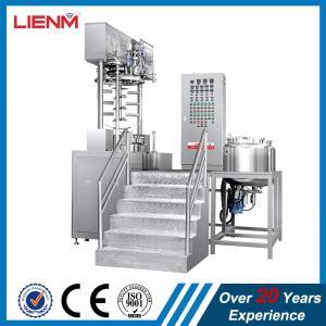 China crème automatique de soins capillaires de vide, mélangeur de émulsification 50L 100L 200L 300L 500L 1000L de lotion de corps on sale