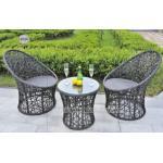 Fashionalの全天候用柳細工のテラスの家具、屋外のテラス テーブルおよび椅子
