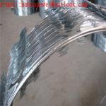 Galvanized Razor Barbed Wire/Airport Fencing Razor Wire/450mm Coil 10m Length for Security Fence factory price