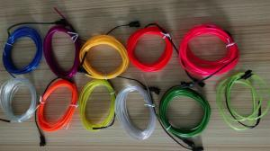 China colorful electroluminescent el wire for decoration on sale