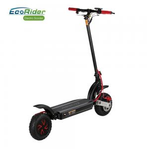 China EcoRider Dual Motor Double Battery Off Road Fat Tire 10 inch Wheel Foldable Electric Scooter on sale