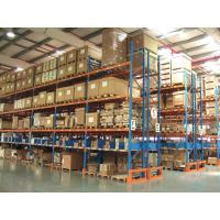 China Blue / Orange Steel Beam Heavy Duty Pallet Racking System Double Entry Wood Pallet on sale