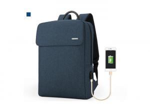 China Business Large Capacity USB Laptop Backpack Bag , Anti Theft Backpack With USB Charger , Travel Backpack on sale