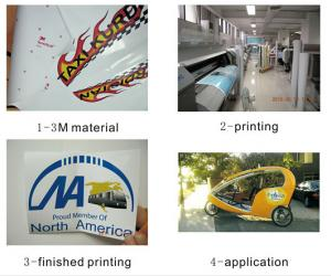 China CMYK car body stickers  on sale