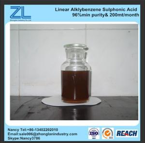 China Linear Alklybenzene Sulphonic Acid Brown Viscous liquid on sale