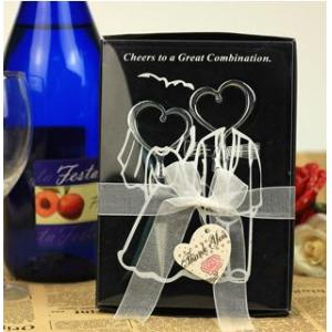 China Metal Heart Wine Opener for Wedding Favors black,white on sale